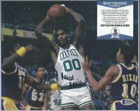 HOF Robert Parish Signed Auto 8x10 Photo Boston Celtics BAS Beckett COA