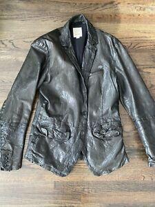 DIESEL Vintage Leather Jacket Rare Size L