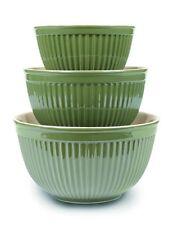 Omni Houseware Simsbury Collection Mixing Bowl Set, Olive 3 pcs set