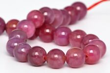8MM Genuine Natural Ruby Gemstone Beads Grade AAA Round Loose Beads 4""
