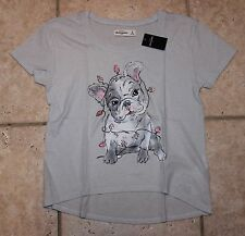NWT Abercrombie Girls XL Dog with Christmas Lights Top - LAST ONE!