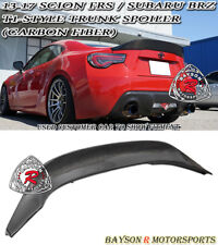 T1-Style Rear Trunk Spoiler Wing (Carbon) Fits 12-18 BRZ FR-S Toyota 86