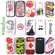 COVER CUSTODIA BACK CASE RIGIDA PER SAMSUNG GALAXY S3 i9300 S3 NEO I9301 DISEGNI