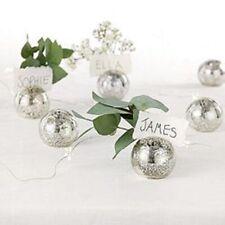 ❀ڿڰۣ❀ THE WHITE COMPANY Six SILVERED MERCURY GLASS Bud Vase PLACE CARD HOLDERS ❀