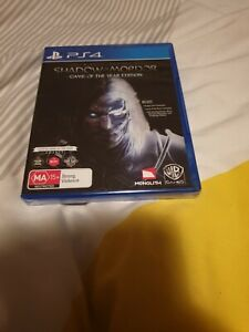 Middle Earth Shadow of Mordor GOTY Edition Ps4 Brand New Sealed