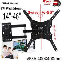 TV Wall Bracket Slim Swivel Tilt Mount LCD LED Plasma 26 27 30 32 35 37 42 46 50