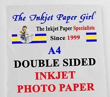 A4 240g Double Sided Gloss/Matte Inkjet Photo Paper  25 Sheets