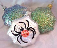 Spider,Spider Web,Halloween,Old World Christmas,Inge-Glas,Germa ny,Retired,Glass