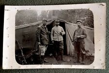 CPA. GUERRE 1914-1918. Photo Militaires. Charles. Chalons sur Marne. Tente.