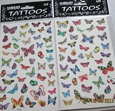WHOLESALE LOT 24 PCS  HIGH QUALITY TEMPORARY TATTOOS PRETTY Little BUTTERFLIES