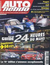 AUTO HEBDO n°1754 du 26 Mai 2010 GP TURQUIE GUIDE des 24h du MANS SUPER GT JAPON