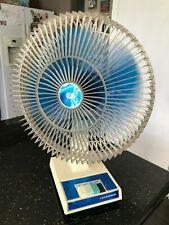 """Vintage Lakewood Fan Oscillating 3 Speed 20"""" Table Fan Model 1200 Lexan Cage"""