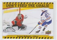 16/17 UD...CONNOR McDAVID...DON'T FEED THE GOALIE...CARD # DFG-CM...OILERS