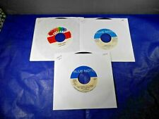 (3) JAZZ 45'S- CANNONBALL ADDERLEY, HORACE SILVER, GRANT GREEN