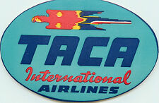 TACA INTERNATIONAL AIRWAYS ~VENEZUELA~ Great Old Airline Luggage Label, 1949