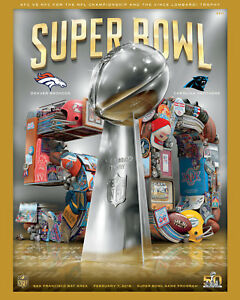 Super Bowl 50 (2016) Art Print -  8x10 Color Photo