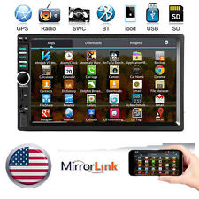 "7"" 2 DIN IN Dash Car Stereo Video AUX MP5 Player GPS Mirror Link for Android"
