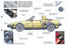Fiat X 1/9 Coupé 2 Places Italie Italy Italia 1972 Car Auto FICHE FRANCE