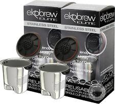 Ekobrew Elite Stainless Steel Reusable Filter for Keurig 2.0 & 1.0 Brewer 2 Pack