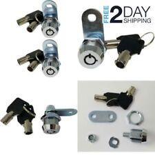 Universal Safe Tool Box Lock Chest Key Storage Truck Cylinder Cabinet Chrome 2pc