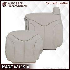 2000 2001 2002 GMC Yukon XL 1500 2500 SLT SLE Synthetic Leather Seat Cover Tan