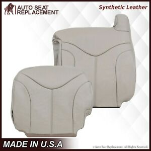2000 2001 2002 GMC Yukon XL 1500 2500 SLT SLE Synthetic Leather Seat Cover Tan