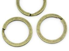 "Key ring Round Antique Bronze 25mm 1"" inch pack of 5 split rings findings blanks"