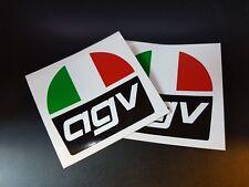 2 x AGV Helmet Stickers Race & Rally Car Stickers. 100mm x 100mm