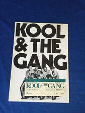 Kool and The Gang japan tour book/ticket stub OSAKA 1975