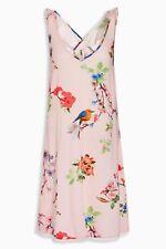 NEXT- VINTAGE FLORAL PINK RUFFLE SLIP NIGHT DRESS LINGERIE UK6 8 10 EUR34 36 38