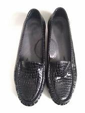 SAS Tripad Comfort Women's Loafer Black Croc Patent Leather Slip On Shoes 7.5 N