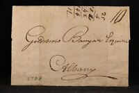 New York: Cooperstown 1798 Stampless Cover, No Town Ms, 10c Rate to Albany