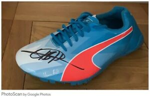 Usain Bold Signed Superb Signature Running Shoe (Needs Spikes) Bidding From £150