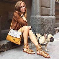 Zara Femmes Fauve Sandales Taille UK3 EUR36 US6