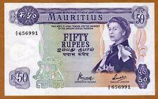 Mauritius, 50 rupees, ND (1967) Pick 33 (33c) QEII, XF