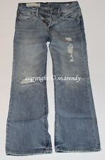 NWT ~RARE~ABERCROMBIE Mens Vintage Destroyed Low Rise KILBURN BOOT Jeans 28x30