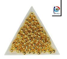 100 Stück Perlen Röhrchen gold Metall 1,5 mm x 15 mm silber R17