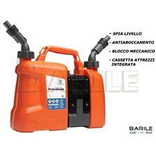 Tanica Combinata HUSQVARNA 5L Carburante / Benzina + 2,5L Olio Catena OMOLOGATA