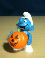 Smurfs Halloween Pumpkin Smurf 20136 Vintage Figure Toy PVC Figurine PORTUGAL