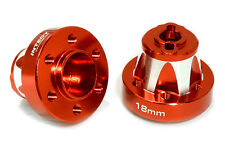 C26666RED Alloy Drive Pin-to-6 Bolt Wheel Hub 18mm Thick for 1/10 Axial Crawler