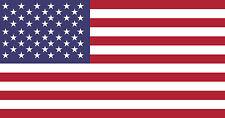 "3"" x 5.7"" USA American Flag Bumper Sticker Decals on 3M vinyl Marines Army Navy"