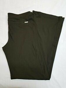 DANSKIN NOW Womens Large (12-14) SEMI FITTED Yoga Workout Pants Wide Leg Black