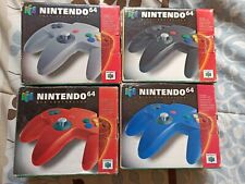 4 Nintendo 64 Gaming Controller - Red Blue Gray Black * BOXES ONLY *
