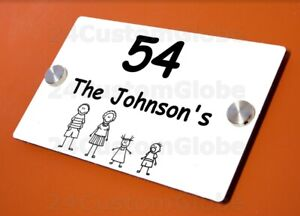 Custom 200x300mm Plaque Metal Engraved Address Outdoor Indoor Signs Family Sons