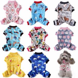 Cute Warm Fleece Dog Pajamas Jumpsuit Halloween Xmas Puppy Cat Coat Pet Costumes