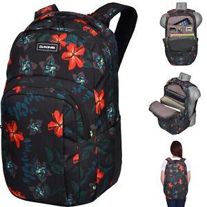 Schulrucksack Mädchen Notebook Daypack DAKINE Campus 33L Twilight Floral Black