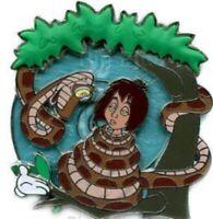 Disney Pin 51996 WDW White Glove Jungle Book Mowgli Kaa Hypnotizing Grip LE 500