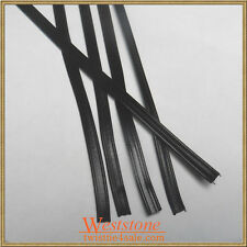 "60pcs Plastic Black 11"" Twist Ties - Double Wire Heavy Duty"