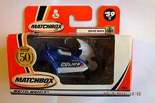 MATCH BOX Cars in scatola Police Moto