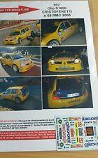 Decals 1/18 réf 907 Renault Clio s1600 Cristoferetti Monte Carlo 2005 N 69